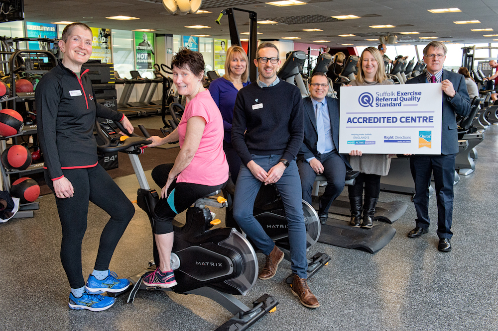 Bury St Edmunds Leisure Centre awarded first Exercise Referral quality mark