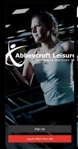 Screen shot of Abbeycroft app