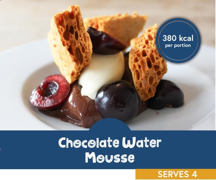 Chocolate water mousse