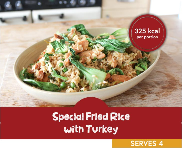 Special fried rice with turkey