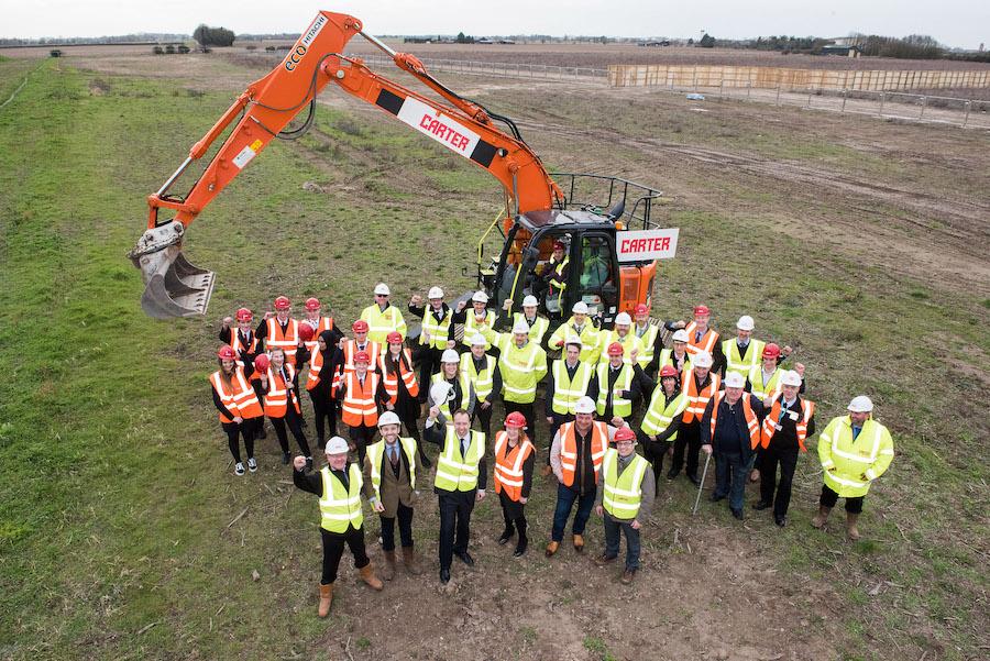 Construction work begins at Mildenhall Hub