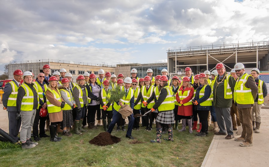 Topping out ceremony at Mildenhall Hub