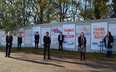 Students display Suffolk Says Thanks initiative