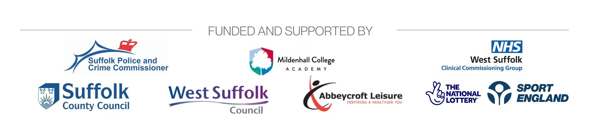 Hub funded partner panel of logos