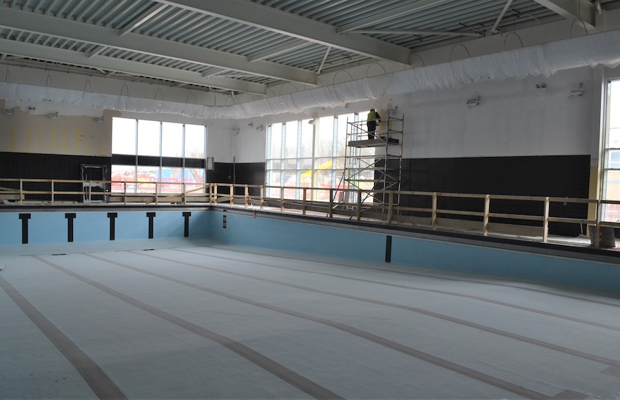 empty pool at Mildenhall Hub
