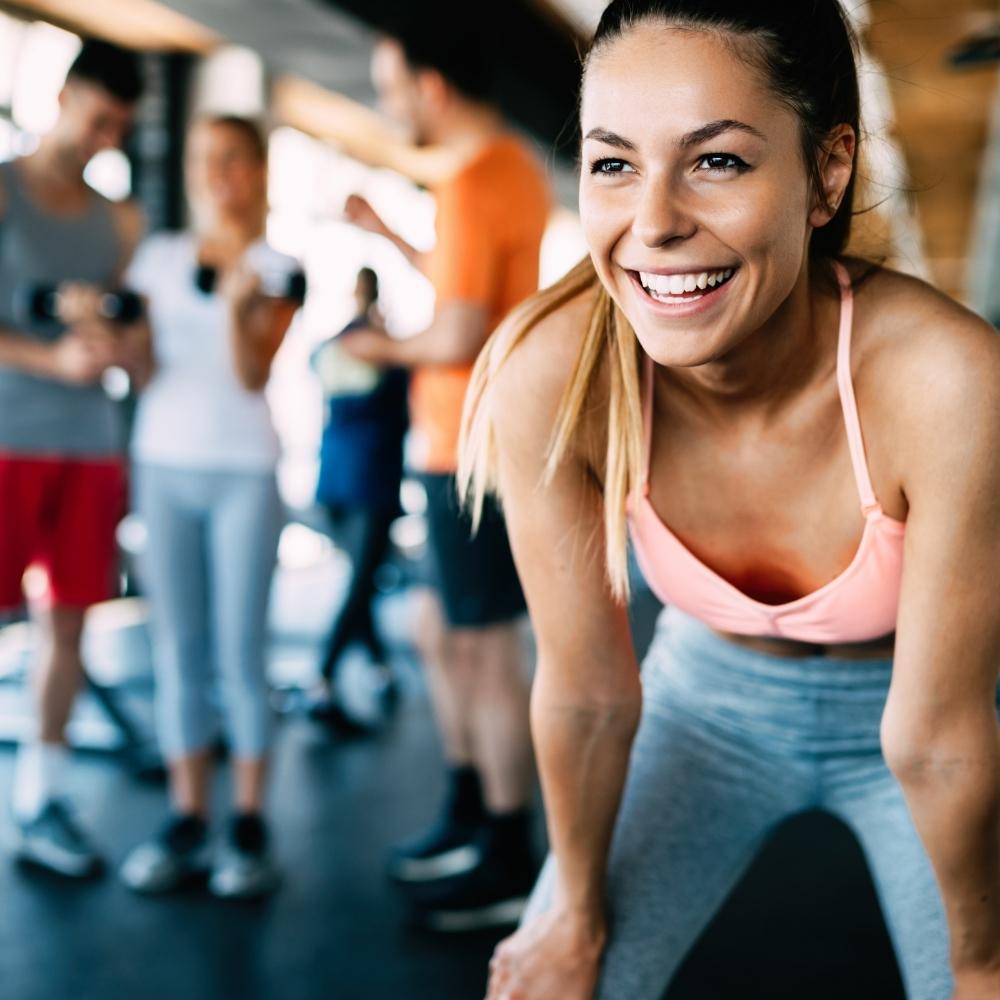 lady in a gym