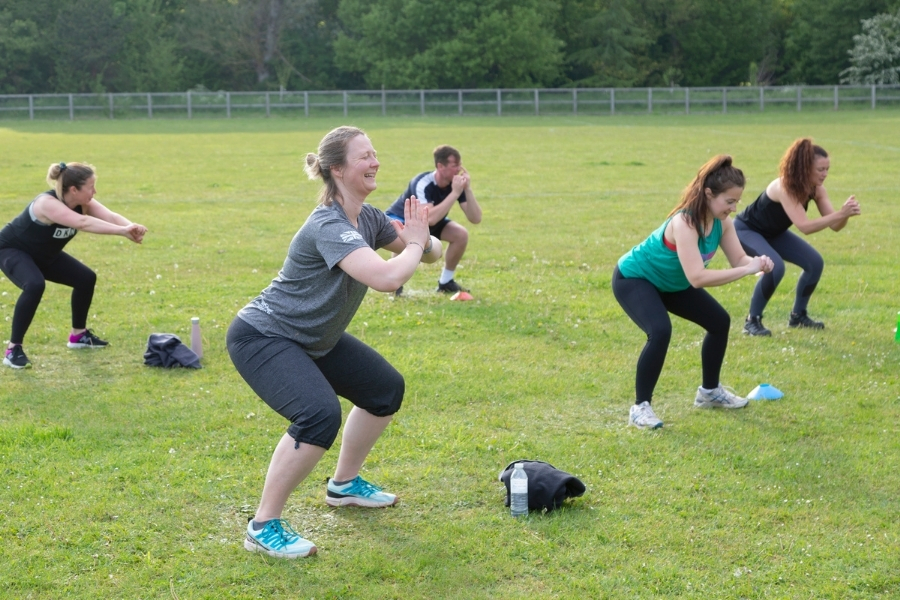 move more outdoors squats