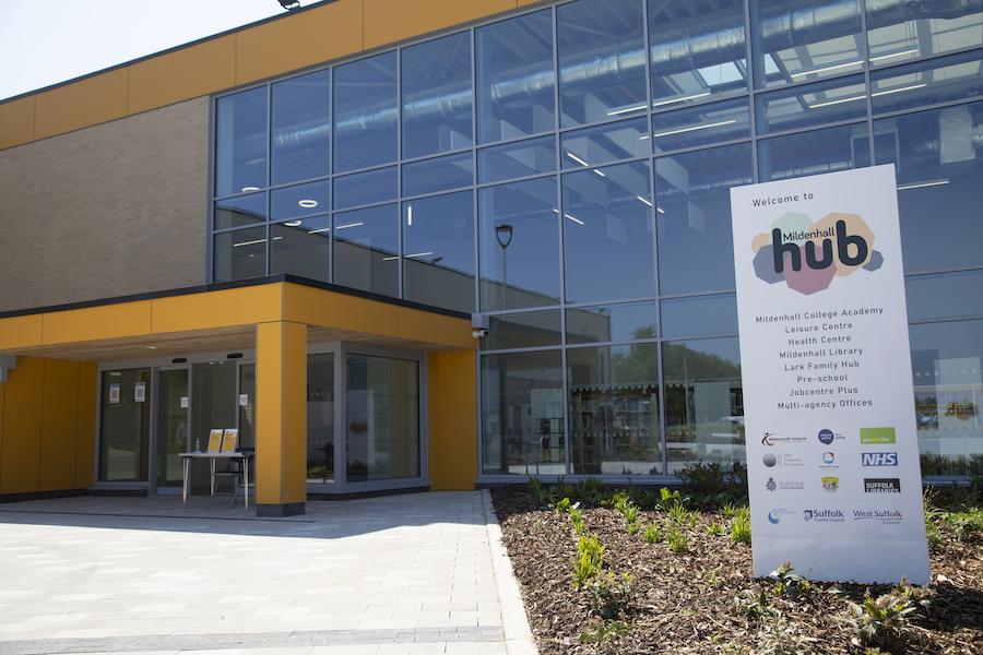 Front of Mildenhall Hub