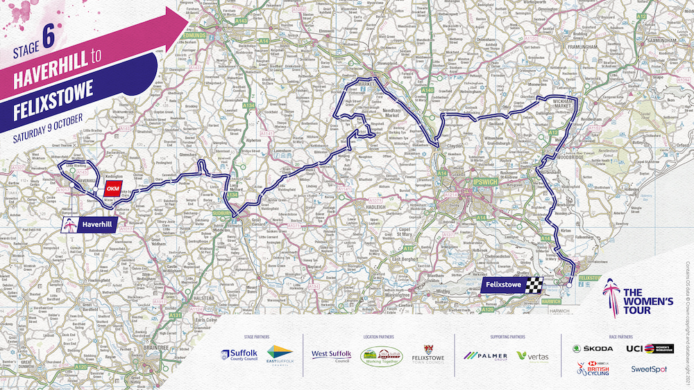 map of the stage 6 route