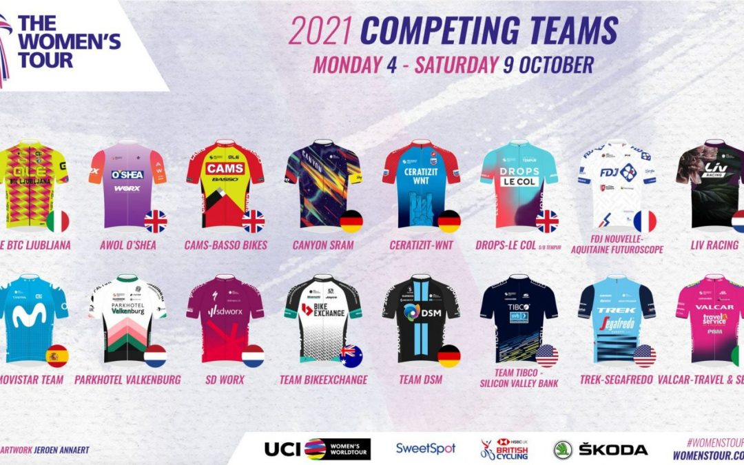 World's best teams confirmed and heading for Suffolk for the 2021 Women's Tour