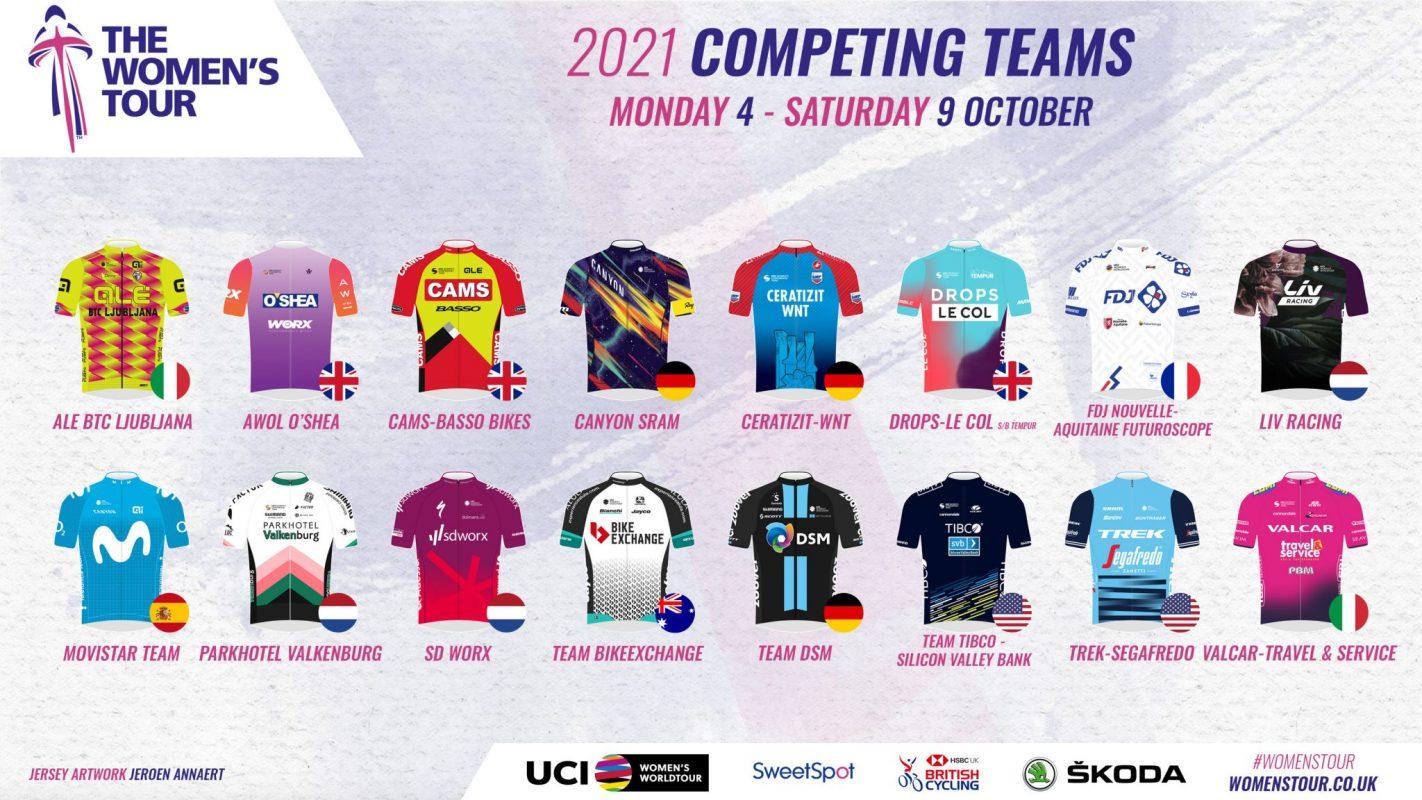 Womens tour team jerseys