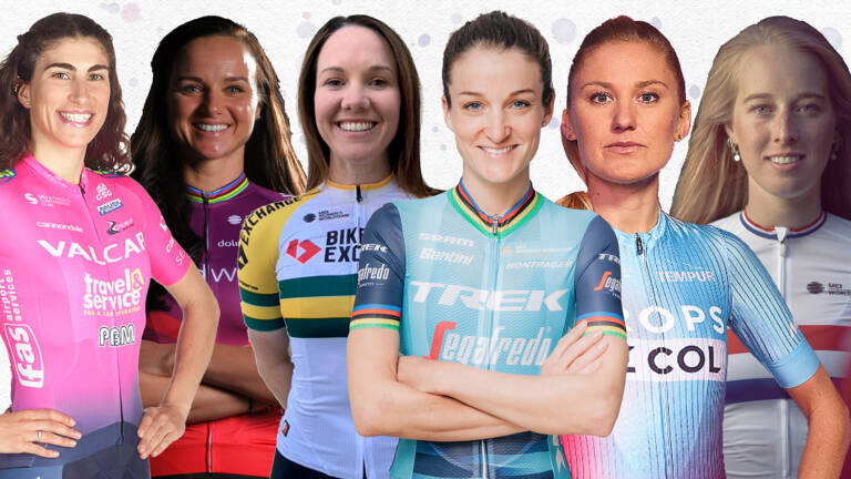 Jerseys of womens tour riders