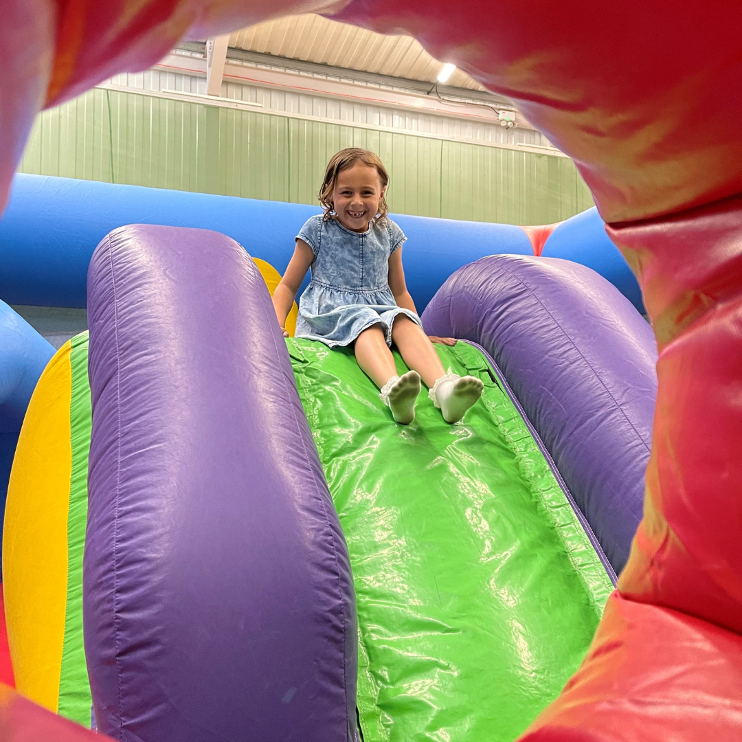 tumblers session girl on bouncy castle